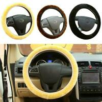 DIY Car Winter Warm Soft Plush Furry Elastic Steering Protector Cover Wheel Q1M6