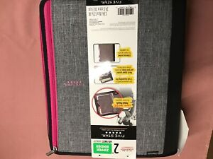 "Five Star 605 Sheet 2"" Ring Zipper Binder Pink, yellow, blue, or other colors"
