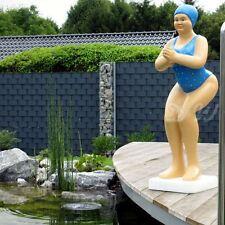 BADENDE ELLI BADEANZUG blau FRAU SCHWIMMERIN BADENIXE TEICH Garten Deko Figur