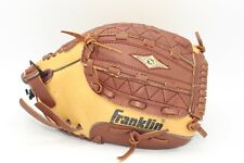 """Franklin RTP Leather Laced 4654 11"""" Youth Glove Mitt Deer Touch Right Hand Throw"""