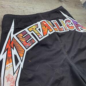 Metallica TRUE VINTAGE 2008 Billiabong Board Shorts Size 33