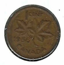 1956 Canadian Circulated One Cent Elizabeth II Coin!
