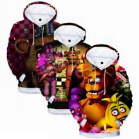 Five Nights at Freddy's 3D Boys Hoodie Hooded Top Kids Sweatshirt Jumper Clothes