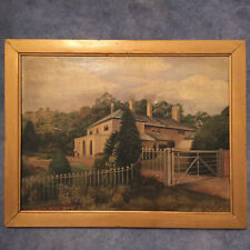 Antique Oil Painting On Canvas of Country House - edwardian still life portrait