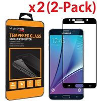 2 Pack For Samsung Galaxy Note 5 FULL COVER Tempered Glass Screen Protector