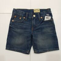 New with tag NWT Boys RALPH LAUREN Blue Denim POLO Summer Classic 867 Shorts 16