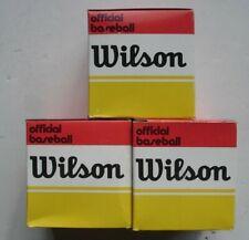 3 Vintage Wilson A1074 Little League Baseballs, New/Boxed