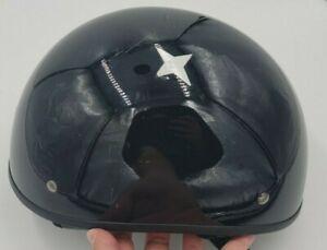 Fulmer Hombre Dot Half  Helmet - SIZE XXL Motorcycle Biker Black Gloss Diamond