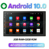 """Android 10.0 Double 2 DIN 7"""" Car Stereo Sat Nav GPS Player Mirror Link USB Radio"""