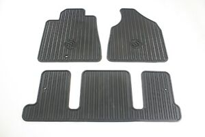 2011-2017 Buick Enclave All Weather Floor Mats Genuine OEM -1st & 3rd Rows Black
