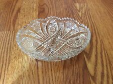 Vintage Clear Crystal Divided Relish/ Nut/Candy Dish