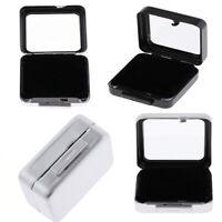 Diamond Display Stone Storage Case Gem Jewelry Holder Organizer Square Box
