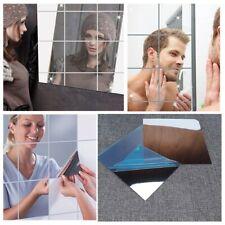 16pcs Mirror Tile Wall Sticker Square Self Adhesive Room Bathroom Decor Stick