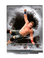 WWE John Cena #1 2017 Topps Undisputed Silver Parallel Card SN 45 of 50