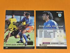 J. L. VILLAREAL SC MONTPELLIER PAILLADE MOSSON FOOTBALL CARD PANINI 1996-1997
