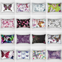 EG_ BUTTERFLY THROW WAIST PILLOW CUSHION COVER CASE SOFA BEDROOM HOME DECOR STRI