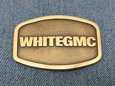 WHITE GMC Semi Trucks Heavy Trucking Dress Belt Buckle BrassLike Finish Free S/H