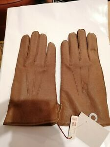 Dents Ladies Brown Leather  Gloves Size 8.5. G12
