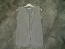 SIZE S THE WHITE COMPANY PALE GREY LINEN SILK KNITTED GILET