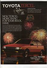 Original 1986 Toyota Tercel Magazine Ad - More Bang For Your Buck