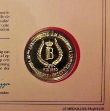 1980 - 50 ans règne Baudouin 50 ste Verjaardag Boudewijn Or/ Argent Gold/ Silver