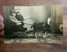 Vintage post card picture c David montreal Québec canada wagon rare