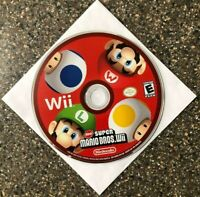 New Super Mario Bros Wii (Nintendo Wii) Disc Only - Clean & Tested - Free Ship!
