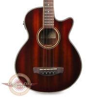 Brand New Ibanez AEGB Acoustic Electric Bass Guitar in Mahogany Sunburst