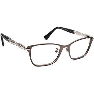 Coach Eyeglasses HC 5065 9017 Dark Silver/Black Square Metal Frame 51[]17 135