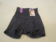 Naomi & Nicole hi waist boy short panties body shaping  XL new with tags black