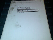 VW Transporter 1991 on Factory Workshop Manual Heating Air Conditioning from 96