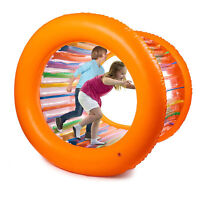"Hoovy 51"" Large Inflatable Roller Wheel Outdoor Toy for Kids & Adult Activities"