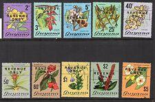 1975 Guyana Bft:1-3 & 5-11 Set solo ricavi. include RARA 25 C. tipo. due belle U/M