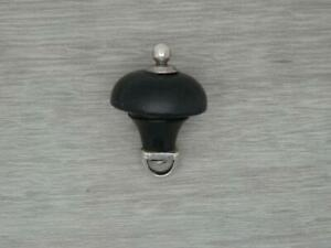 Antique Solid sterling SILVER & Ebony Wood Teapot FINIAL Replacement top part