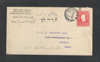 1907 WILLARD A SMITH RICHFIELD SPRINGS NY ADVERTISING COVER US STAMPED ENVELOPE