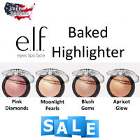 ELF Baked Highlighter- Moonlight Pearls/ Blush Gems/ Bronze/ Gold/ Apricot Glow