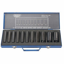 "Draper Expert Deep Impact Metric Socket Set 1/2"" Sq. Drive Hi-Torq® 11pc"
