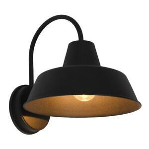 Sylvania Weymouth Single Bulb Antique Black Outdoor Barn Light Sconce