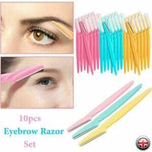 10 Pcs Eyebrow Razor Dermaplaning Painless Portable Facial Shaver Trimmer UK
