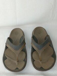 CROCS Modi Sport Flip Brown Flip Flop Sandals Mens Size 12