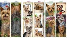 3set-YORKIE BOOKMARK Yorkshire Terrier DOG Puppy Art Book CARD Ornament Figurine
