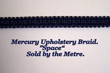 "Dark Blue Upholstery Braid ""Mercury Space"" 15mm wide (sold by the Metre)"