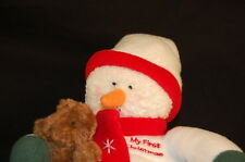 "My First Christmas Plush Snowman Baby Gund #8752 10"" Teddy Bears Stuffed Lovey"