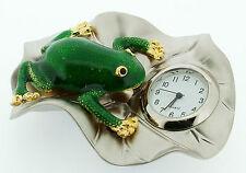 Miniature Novelty Frog on a Leaf Clock