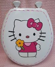 HP HELLO KITTY TOILET SEAT/ELONGATED WHITE/YOU CHOOSE COLORS BY MB