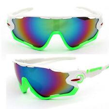 TRIATHLON Sunglasses Green White Bike Cycling Aero Helmet Tri Sun Glasses run