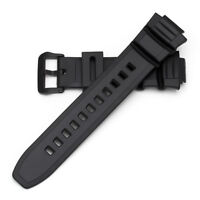 GF8110 Generic Watch Replacement Black Resin Strap for MCW-100H/W-S220/HDD-S100
