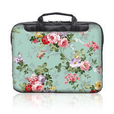 "TaylorHe 15.6"" DEFECT Laptop Shoulder Bag With Handles Strap Beautiful Flowers"