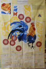 1 Panel Wilmington Bright and Early Rooster Apron Fabric Panel