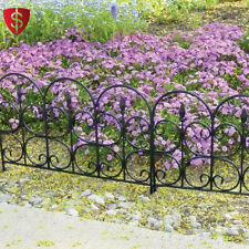 "Plastic Garden Fence Resin Outdoor Yard Wall Fencing Landscape Border 16"" 12pack"